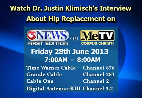 Watch Dr.Justin Klimisch's Interview About Hip Replacement on