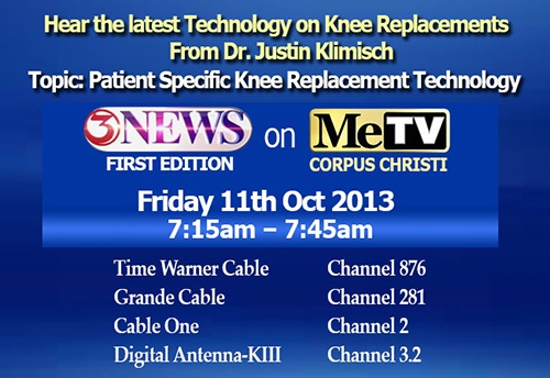 latest Technology on Knee Replacements by Justin Klimisch, M. D.